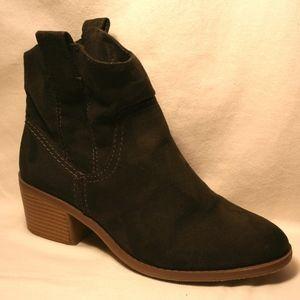 Merona Brown Booties with heel Size 7.5